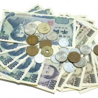 Japanese yen isolated on white background